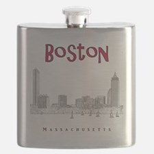 Boston_10x10_Skyline_BlackRed Flask