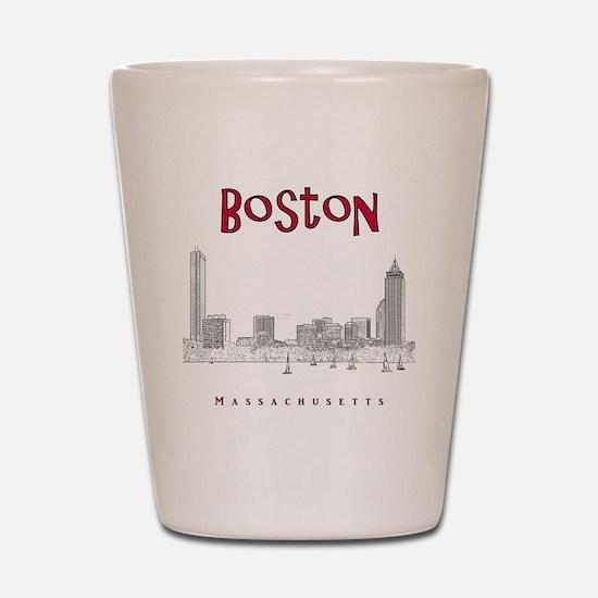 Boston_10x10_Skyline_BlackRed Shot Glass