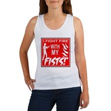 10x10_fight_fire Women's Tank Top