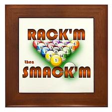 'Rack'm then Smack'm'  Framed Tile