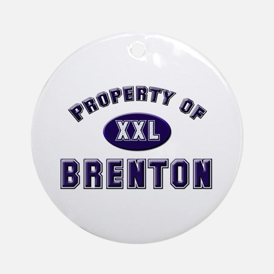 Property of brenton Ornament (Round)