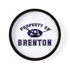 Property of brenton Wall Clock