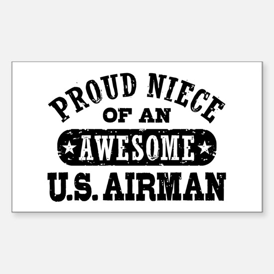 Proud Niece of an Awesome Airman Decal