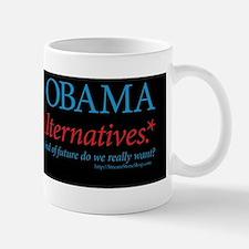 Re-Elect Obama sticker or magnet (black Mug