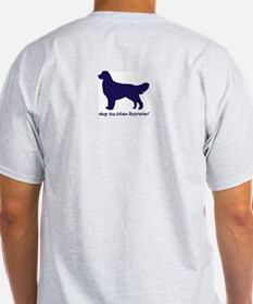 Obey the Golden Retriever! USA Ash Grey T