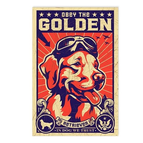 Obey the Golden! USA postcards (Pack of 8)