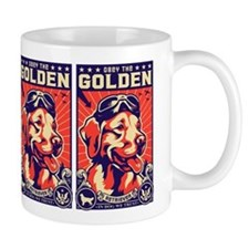 Obey the Golden Retriever! USA Coffee Mug