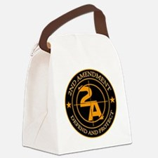 2ND Amendment 3 Canvas Lunch Bag