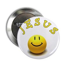 "Jesus smile 2.25"" Button"