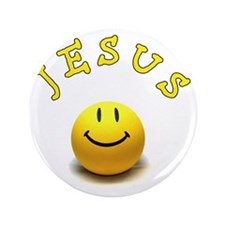 "Jesus smile 3.5"" Button"