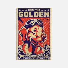 Obey the Golden Retriever! USA Retro Magnet