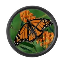 Loving Expression Monarch Butterf Large Wall Clock