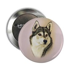 "Sib Husky Jewel 2.25"" Button"