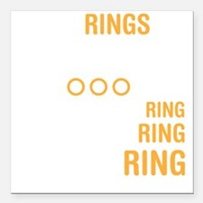 "ringsDrk Square Car Magnet 3"" x 3"""