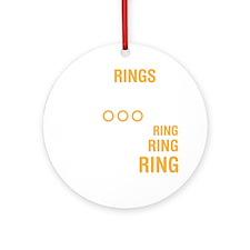 ringsDrk Round Ornament