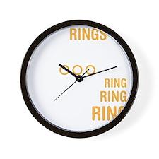 ringsDrk Wall Clock