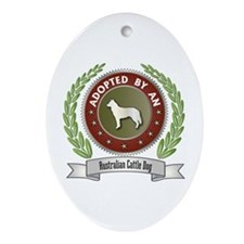 Cattle Dog Adopted Oval Ornament
