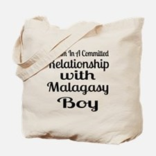 I Am In Relationship With Malagasy Boy Tote Bag