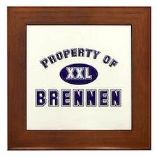 Property of brennen Framed Tile