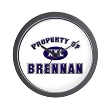 Property of brennan Wall Clock