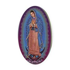 13 Lady of Guadalupe Oval Car Magnet
