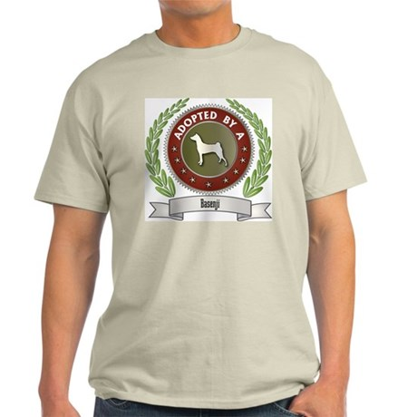 Basenji Adopted Ash Grey T-Shirt