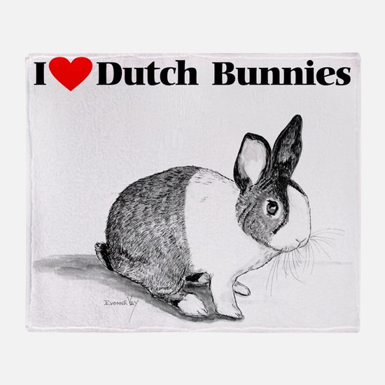 funnyfheartdutchbuns Throw Blanket
