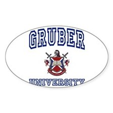 GRUBER University Oval Decal