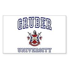 GRUBER University Rectangle Bumper Stickers