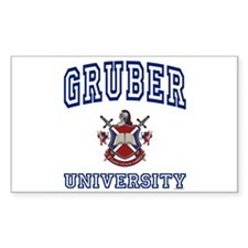 GRUBER University Rectangle Decal