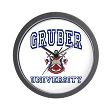 GRUBER University Wall Clock