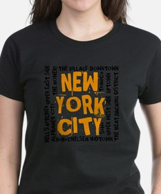 NYC_neighborhoods(on-white)2 Tee