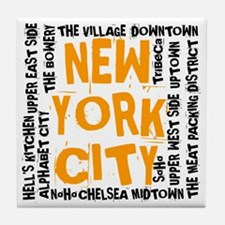 NYC_neighborhoods(on-white)2 Tile Coaster