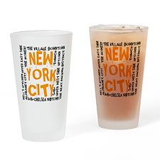 NYC_neighborhoods(on-white)2 Drinking Glass