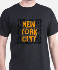 NYC_neighborhoods(on-white)2 T-Shirt