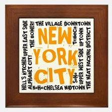 NYC_neighborhoods(on-white)2 Framed Tile