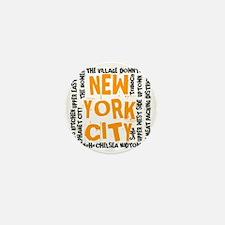 NYC_neighborhoods(on-white)2 Mini Button