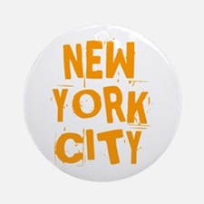 NYC_neighborhoods2 Round Ornament