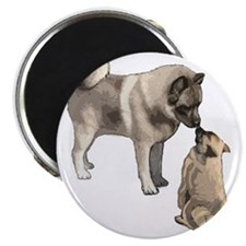 elkie adult and puppy5 Magnet