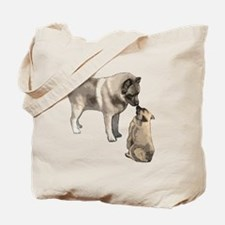 elkie adult and puppy5 Tote Bag