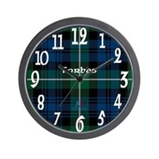 Forbes Clan Wall Clock