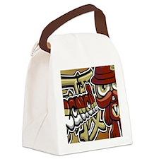 VictorianNoteCardKanji Canvas Lunch Bag