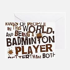 badmintonplayerbrown Greeting Card