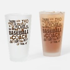 baseballcoachbrown Drinking Glass