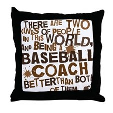 baseballcoachbrown Throw Pillow