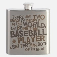 baseballplayerbrown Flask