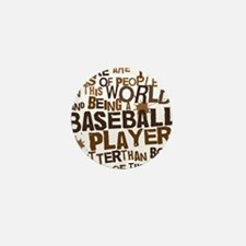 baseballplayerbrown Mini Button