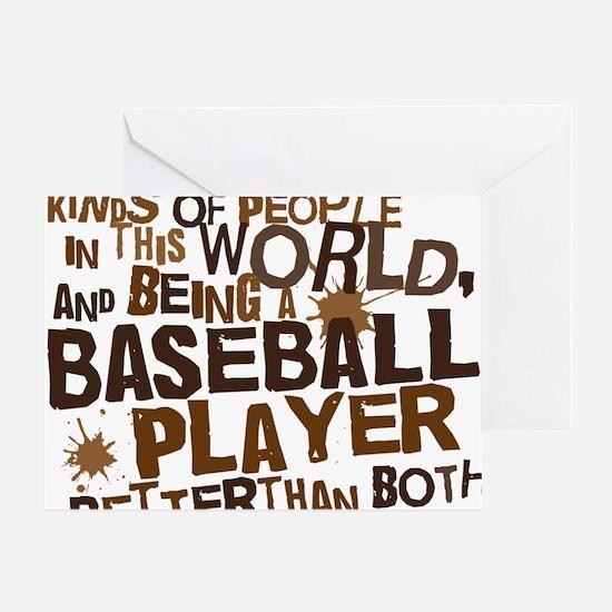 baseballplayerbrown Greeting Card