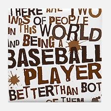 baseballplayerbrown Tile Coaster