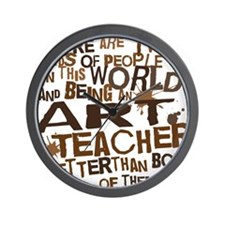 artteacherbrown Wall Clock